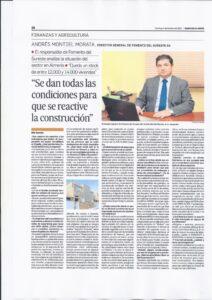 Andrés Montiel entrevista en el Diario de Almería, 04-10-2015