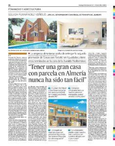Reportaje de Fomento en el Diario de Almería (26-03-2017)